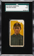 Baseball Cards:Singles (Pre-1930), 1909-11 T206 Drum Cigarettes Jack Hayden SGC 10 Poor 1 - The FirstConfirmed Example! ...