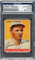 Baseball Collectibles:Others, 1933 Goudey Tommy Thevenow #36 Signed PSA/DNA Authentic....