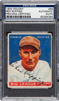 Baseball Collectibles:Others, 1933 Goudey Red Ruffing #56 Signed PSA/DNA Authentic....