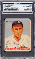 Baseball Collectibles:Others, 1933 Goudey Ed Brandt #50 Signed PSA/DNA Authentic....