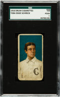 """Baseball Cards:Singles (Pre-1930), 1909-11 T206 Drum Cigarettes Ossee Schreck """"Schreckengost"""" SGC 10Poor 1 - The First Confirmed Example! ..."""