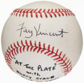 Autographs:Baseballs, 1992 Fay Vincent & Rusty Staub Signed Baseball from At thePlate Show. ...