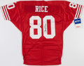 Football Collectibles:Uniforms, Jerry Rice Signed San Francisco 49ers Jersey....