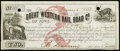 Obsoletes By State:Iowa, Camanche, IA- Great Western Rail Road Co. $2 Jan. 1, 1858 Oakes20-2. ...