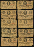 Confederate Notes:1863 Issues, T63 50 Cents 1863 Ten Examples.. ... (Total: 10 notes)