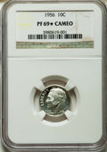 Proof Roosevelt Dimes, 1956 10C PR69 ★ Cameo NGC. NGC Census: (71/0 and 11/0*). PCGSPopulation (11/0 and 11/0*). N...