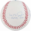 Autographs:Baseballs, Rickey Henderson, Mariano Rivera and Cal Ripken Jr. Multi-SignedBaseball....