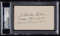 Baseball Collectibles:Others, Frank Home Run Baker Index Card, PSA Authentic. ...