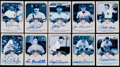 Baseball Cards:Autographs, 2003 Upper Deck New York Yankees Signatures Series Signed Cards Lot of 10....