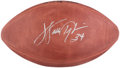 Baseball Collectibles:Balls, Walter Payton Signed Leather NFL Football....