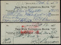 Baseball Collectibles:Others, Ed Barrow Signed Checks Lot of 2....