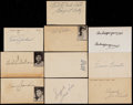 Baseball Collectibles:Others, Baseball Hall of Famers Signed Government Postcards Lot of 10....