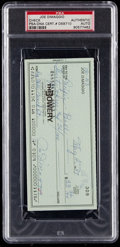 Baseball Collectibles:Others, 1987 Joe DiMaggio Signed Check....