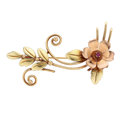 Estate Jewelry:Brooches - Pins, Retro Ruby, Gold Brooch. ...