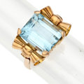 Estate Jewelry:Rings, Retro Topaz, Gold Ring. ...