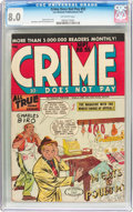 Golden Age (1938-1955):Crime, Crime Does Not Pay #55 (Lev Gleason, 1947) CGC VF 8.0 Off-white pages....