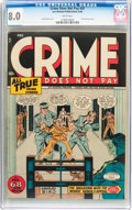 Golden Age (1938-1955):Crime, Crime Does Not Pay #47 (Lev Gleason, 1946) CGC VF 8.0 White pages....