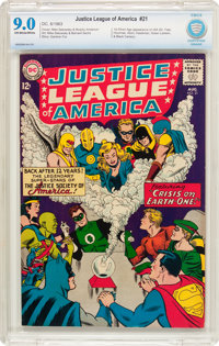 Justice League of America #21 (DC, 1963) CBCS VF/NM 9.0 Off-white to white pages