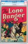 Golden Age (1938-1955):Western, Four Color #118 The Lone Ranger (Dell, 1946) CGC NM- 9.2 Cream tooff-white pages....