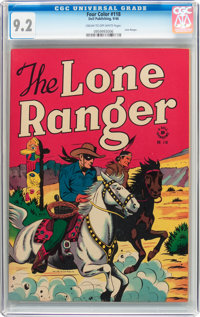 Four Color #118 The Lone Ranger (Dell, 1946) CGC NM- 9.2 Cream to off-white pages