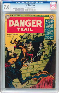 Danger Trail #3 (DC, 1950) CGC FN/VF 7.0 Off-white to white pages