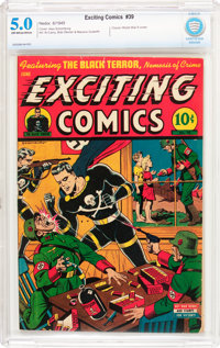 Exciting Comics #39 (Nedor/Better/Standard, 1945) CBCS VG/FN 5.0 Off-white to white pages