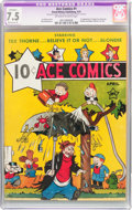 Platinum Age (1897-1937):Miscellaneous, Ace Comics #1 (David McKay Publications, 1937) CGC Apparent VF- 7.5Moderate (P) Off-white to white pages....