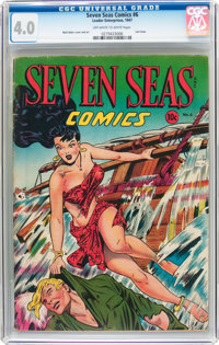 Seven Seas Comics #6 (Universal Phoenix Feature, 1947) CGC VG 4.0 Off-white to white pages