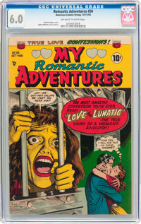 Romantic Adventures #50 (ACG, 1954) CGC FN 6.0 Off-white to white pages