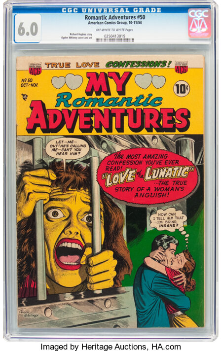 Romantic Adventures #50 (ACG, 1954) CGC FN 6.0 Off-white to white pages....