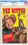 Golden Age (1938-1955):Western, Tex Ritter Western #1 Crowley Copy Pedigree (Fawcett Publications, 1950) CGC VF+ 8.5 Cream to off-white pages....