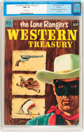 Golden Age (1938-1955):Western, Dell Giant Comics Lone Ranger's Western Treasury #1 File Copy(Dell, 1953) CGC NM+ 9.6 Off-white pages....