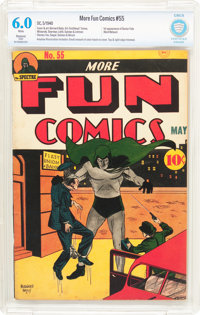 More Fun Comics #55 Trimmed (DC, 1940) CBCS Restored FN 6.0 Slight (A) White pages