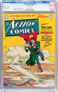 Action Comics #138 (DC, 1949) CGC VF+ 8.5 White pages