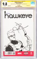 Modern Age (1980-Present):Superhero, All-New Hawkeye #1 Sketch Edition - Signature Series (Marvel, 2015)CGC NM/MT 9.8 White pages....