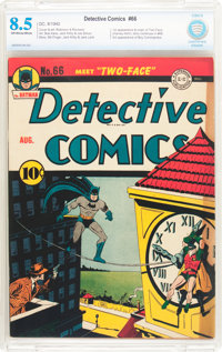 Detective Comics #66 (DC, 1942) CBCS VF+ 8.5 Off-white to white pages