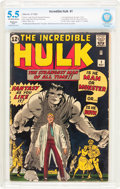 Silver Age (1956-1969):Superhero, The Incredible Hulk #1 (Marvel, 1962) CBCS Restored FN- 5.5 Slight(P) Off-white to white pages....