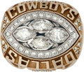 Football Collectibles:Others, 1993 Dallas Cowboys Super Bowl XXVIII Championship Ring Presented to Tight Ends Coach Robert Ford....
