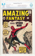 Silver Age (1956-1969):Superhero, Amazing Fantasy #15 (Marvel, 1962) CBCS Restored (Extensive) VF+8.5 Off-white pages....