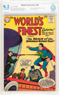 Silver Age (1956-1969):Superhero, World's Finest Comics #94 (DC, 1958) CBCS NM- 9.2 Off-white towhite pages....