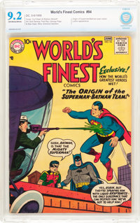 World's Finest Comics #94 (DC, 1958) CBCS NM- 9.2 Off-white to white pages