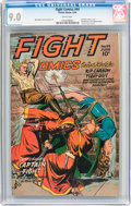 Golden Age (1938-1955):War, Fight Comics #44 (Fiction House, 1946) CGC VF/NM 9.0 Whitepages....
