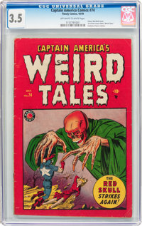 Captain America Comics #74 (Timely, 1949) CGC VG- 3.5 Off-white to white pages