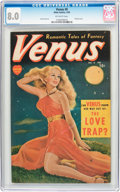 Golden Age (1938-1955):Romance, Venus #8 (Timely, 1950) CGC VF 8.0 Off-white pages....