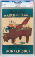 Golden Age (1938-1955):Funny Animal, March of Comics #41 Donald Duck (K. K. Publications, Inc., 1949)CGC VF 8.0 Off-white to white pages....