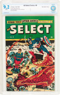 Golden Age (1938-1955):Superhero, All Select Comics #9 Big Apple Pedigree (Timely, 1945) CBCS NM- 9.2 White pages....
