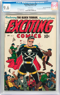Exciting Comics #51 Mile High Pedigree (Nedor, 1946) CGC NM+ 9.6 White pages