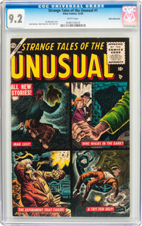Strange Tales of the Unusual #1 White Mountain Pedigree (Atlas, 1955) CGC NM- 9.2 White pages