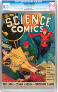 Golden Age (1938-1955):Science Fiction, Science Comics #1 (Fox, 1940) CGC VF 8.0 Off-white pages....