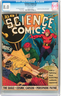 Science Comics #1 (Fox, 1940) CGC VF 8.0 Off-white pages